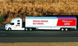 Autonomní nákladní auto firmy Otto, spadající pod Uber