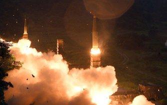 Severokorejská raketa, ilustrační foto