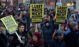 Demonstrace proti vládě Sebastiana Kurze ve Vídni, ilustrační foto