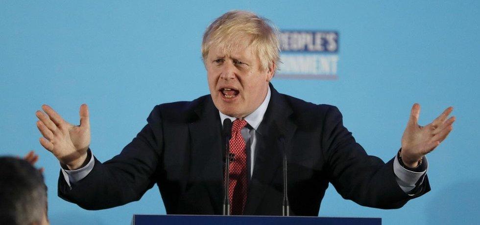Britský premiér Boris Johnson komentuje výsledky voleb