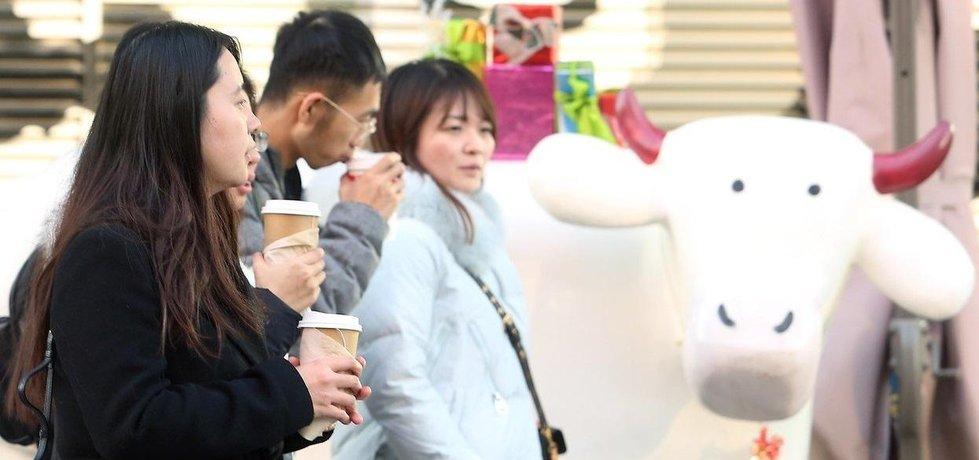 Zmrzlina, mléko do kávy, máslo. Číňané chtějí žít jako lidé na Západě, ilustrační foto