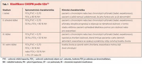 Současné možnosti diagnostiky a léčby CHOPN