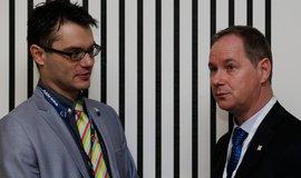Na snímku europoslanec Stanislav Polčák a 1. místopředseda STAN Petr Gazdík