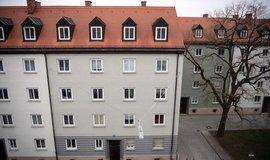 Bytové domy v mnichovské čtvrti Schwabing, kde se nájemníci vzepřeli zdražení nájmů.