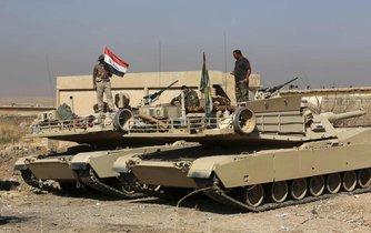 Irácké jednotky během ofenzívy, jejímž cílem je obnovení kontroly nad městem Mosul